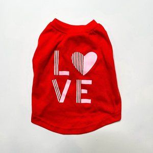 Top Paw Red Love Pet Tee
